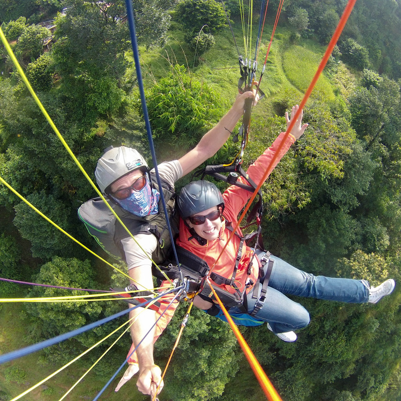 Paragliding ...