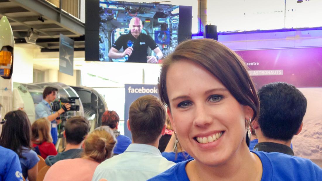 Selfie mit Alexander Gerst, hier noch auf der ISS