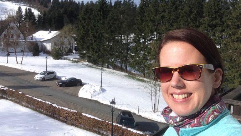RuhrtalRadweg: Start in Winterberg bei Schnee