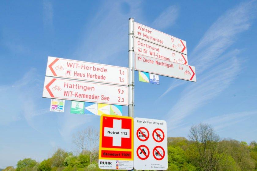 Hinweisschild RuhrtalRadweg