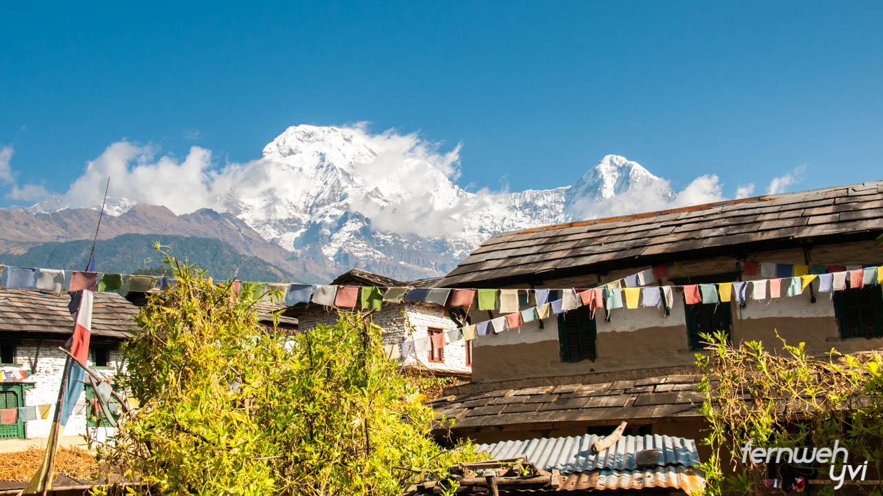 Ausblick Trekking in Nepal