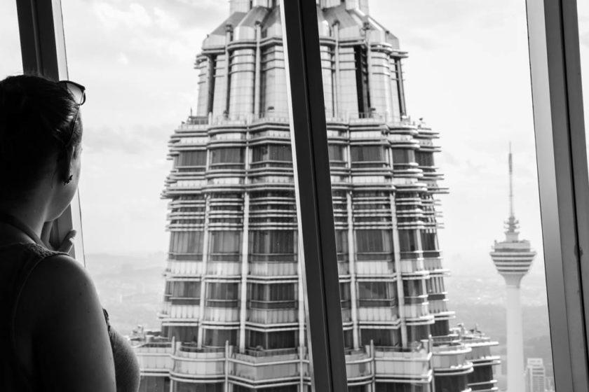 Fernwehyvi auf Petronas Tower