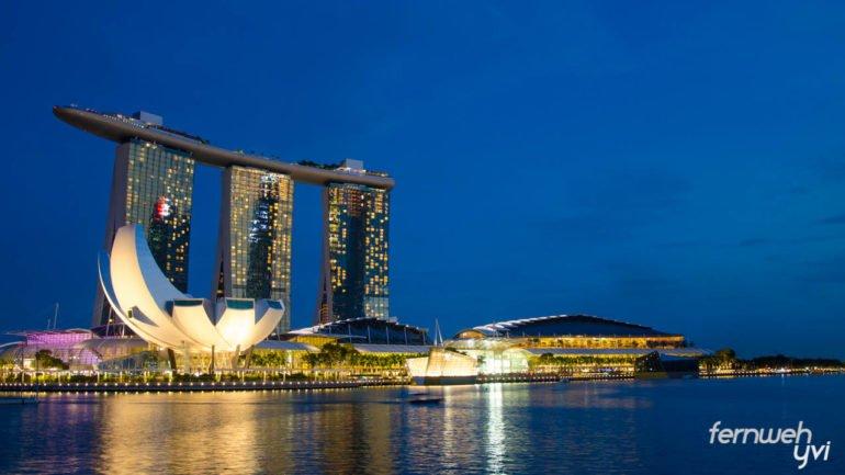 Mein erster Ausblick auf die Marina Bay