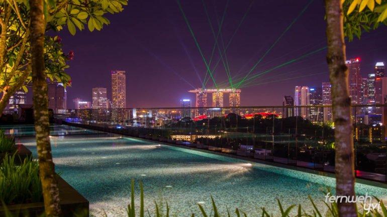 Die Lightshow des Marina Bay Sands Hotel habe ich vom Pool meines Hotels geschaut - einfach perfekt :)