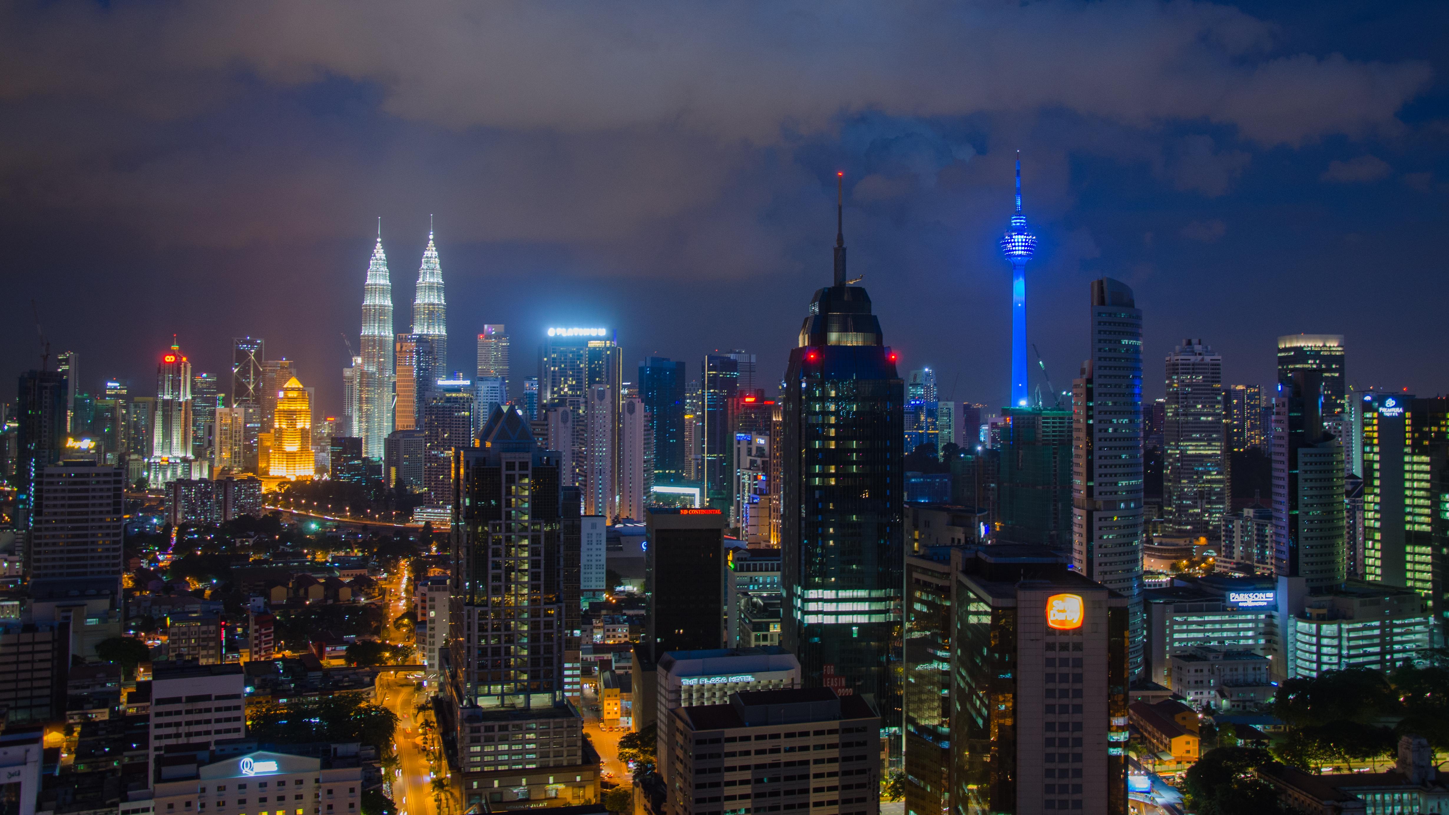 Aussicht Skyline Kuala Lumpur Nacht