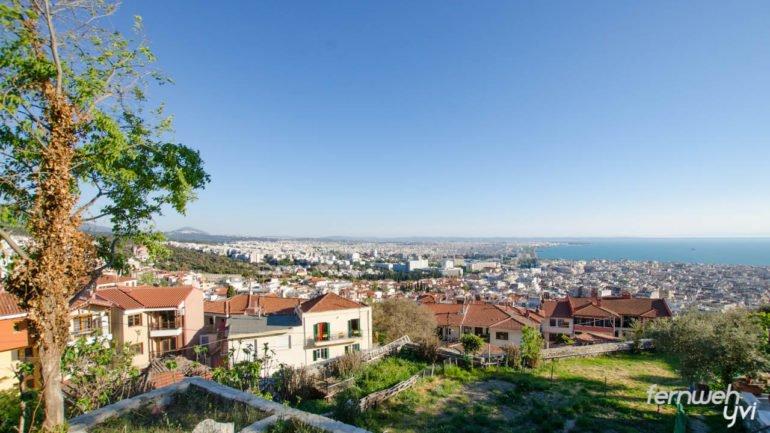 Aussicht vom Kloster auf Thessaloniki