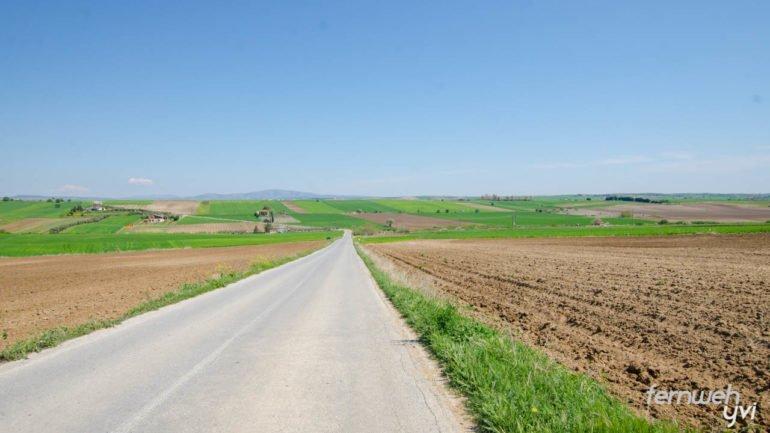 Die Landschaft erinnert mich an die Toskana
