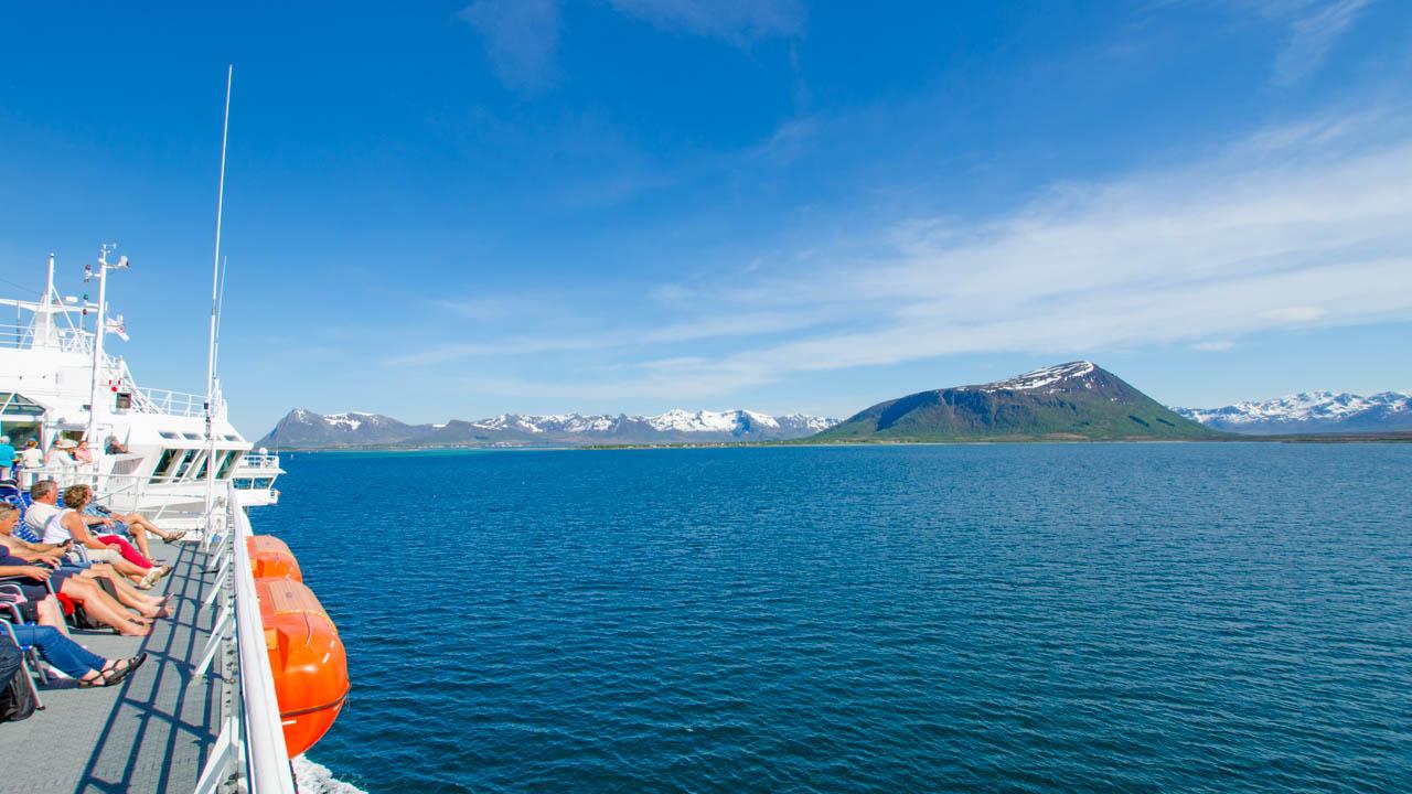Ausblick von der MS Finnmarken