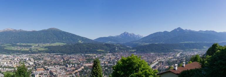Bergstation der Hungerburg mit wunderbarer Aussicht