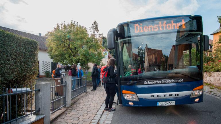 Ankunft in Gonnersdorf mit dem Rufbus