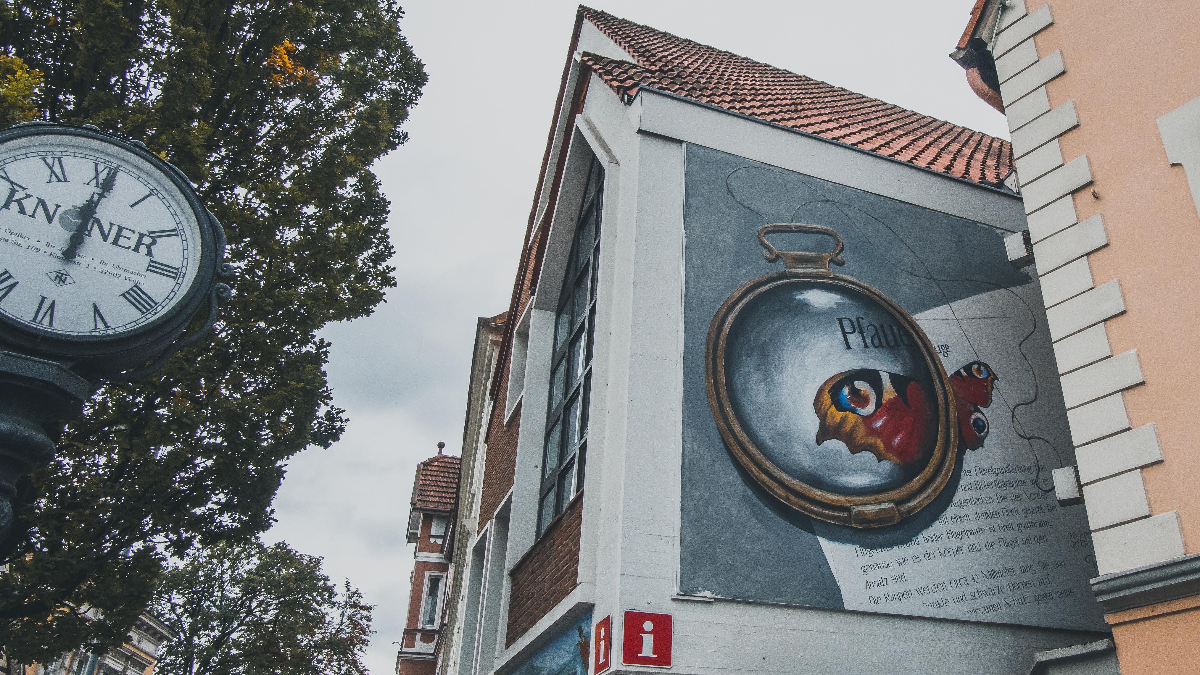 Eines der großflächigen Kunstwerke in Vlotho